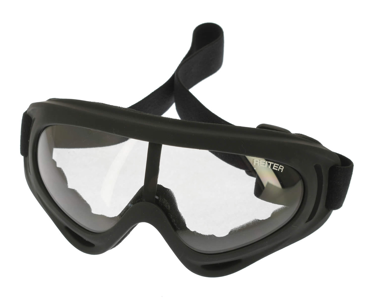 Black Goggles with Clear Lens