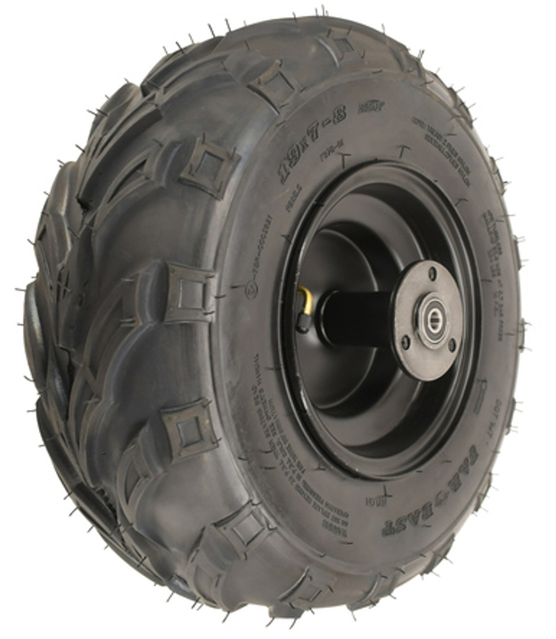 "Mega Moto B212, 8"" Rear Tire & Wheel Assembly"