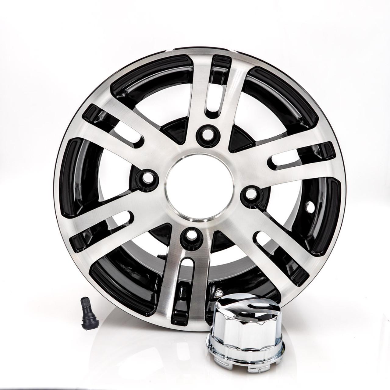 """10"""" Front Wheel Black/Aluminum"""