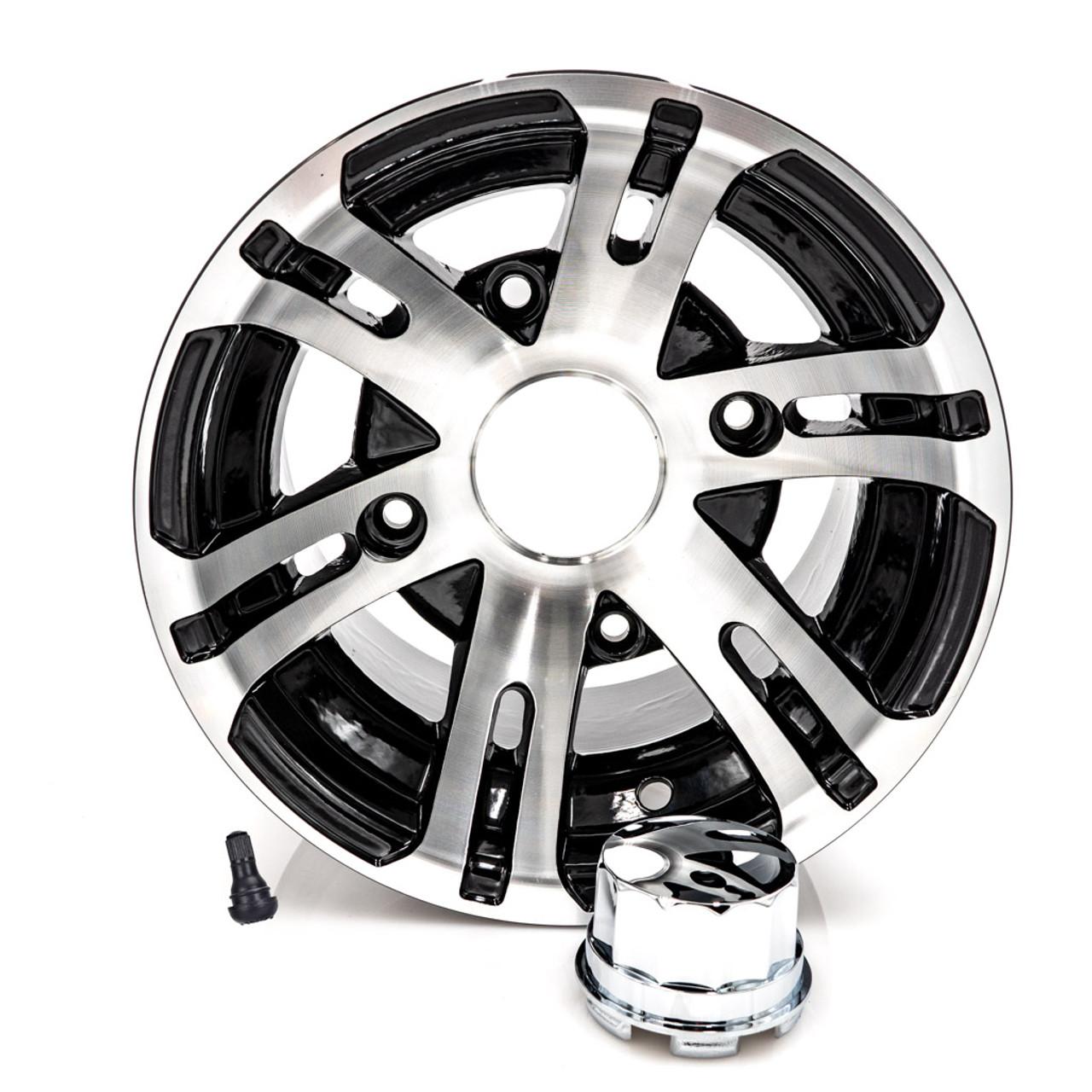 """10"""" Rear Wheel Black/Aluminum"""