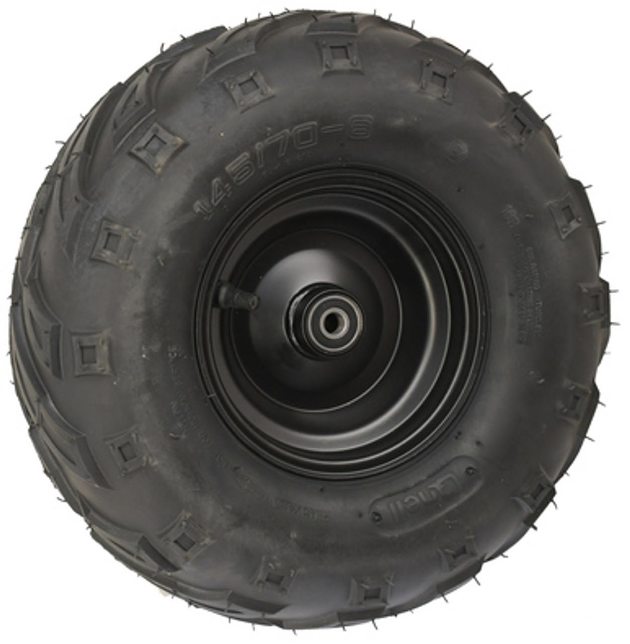 "Minibike 6"" Front Steel Wheel Assembly, 145x70-6 V Tread"