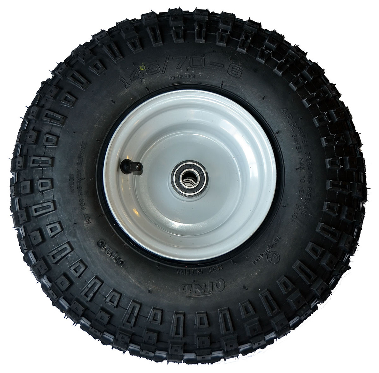 """145x70-6 Floater Wheel Assembly Complete with 5/8"""" sealed bearings"""