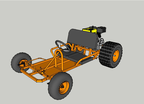 Deluxe Upgrade Live Axle Go-Kart Kit (Frame not included)