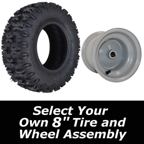 "Build Your Own 8"" Tire Assembly, THIS IS FOR 1 WHEEL ASSEMBLY"