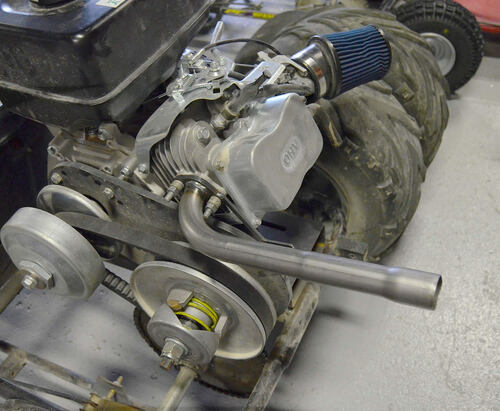 301cc & 420cc Straight Back Header Pipe