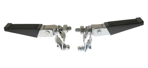 Fold Up Mini Bike Foot Pegs with Universal Clamps