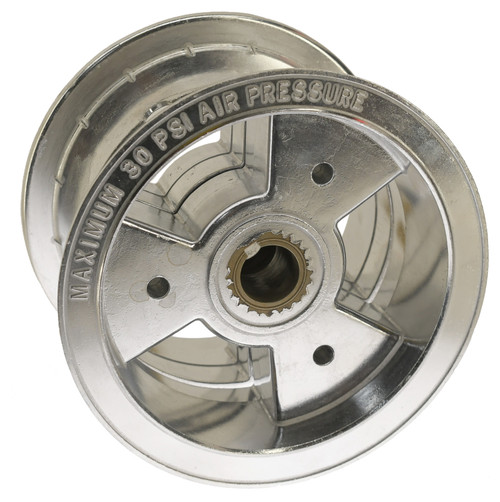 "6"" Live Axle Tri-Star Wheel, 4"" Wide ( Aluminum )"