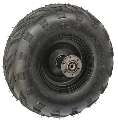 """Minibike 6"""" Rear Steel Wheel Assembly, 145x70-6 V Tread"""
