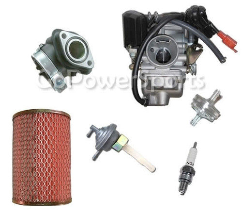 150CC Carburetor Fuel Kit  with Upgrade Jets