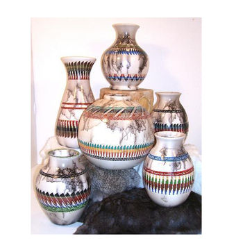 Navajo Colored Horse Hair Pots