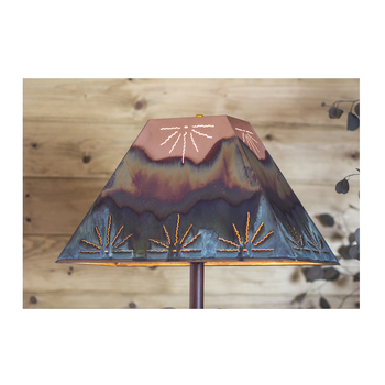 Rectangle Copper  & Petina Lamp Shades