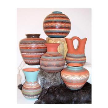 Navajo Carved Pots