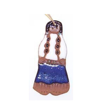 Suzy Indian Girl Ornament