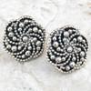 Bubble Swirl Clip Earrings