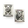 Designer White Topaz Clip Earrings