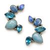 Opal Kyanite Chalcedony Blue Topaz Earring
