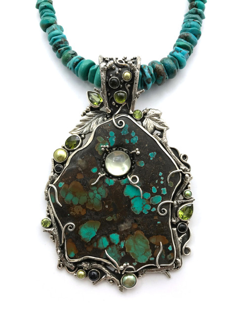 Turquoise Vine Necklace