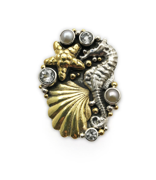 Hippocampus Seahorse Ring