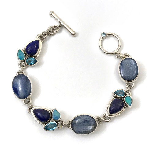 Opal Kyanite Lapis Blue Topaz Bracelet