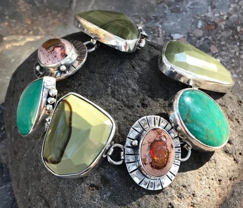 Imperial Jasper Fire Opal Bracelet