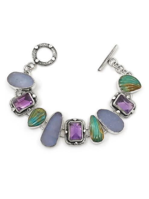 Stardust Druzy Andean Opal Bracelet