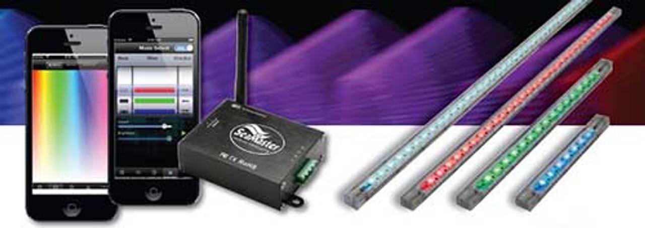 Lifetime Warranty SeaMaster Lights Strip 15 LED 25cm (10in) RGB