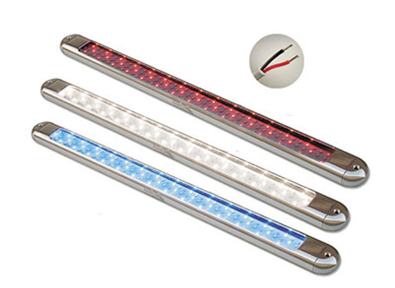 Lifetime Warranty  SeaMaster Lights Oval Black Powder Coat Housing T-Top Light 23 inch White/Red/Blue LED