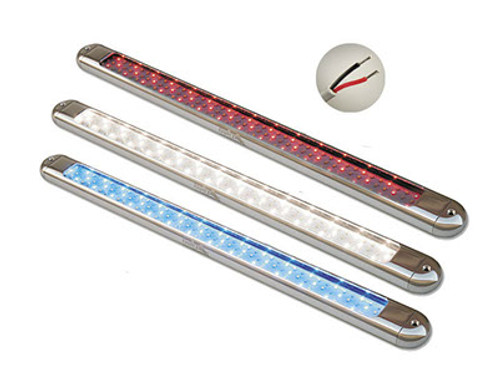 Lifetime Warranty SeaMaster Lights Oval Silver Anodized Housing T-Top Light 23 inch White/Red/Blue LED
