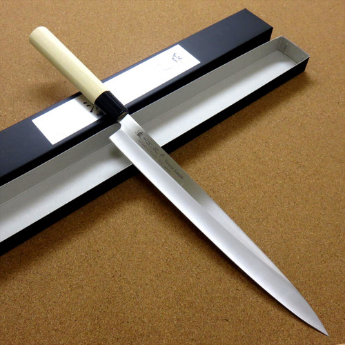 """Japanese Masamune Kitchen Sashimi Knife 10"""" Single edged Right handed SEKI JAPAN"""