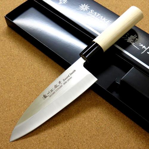 Japanese Masamune Kitchen Deba Knife 155mm 6 inch Single edged Left handed JAPAN