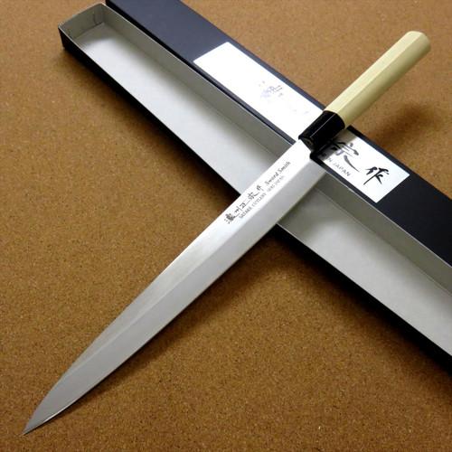 """Japanese Masamune Kitchen Sashimi Knife 10"""" Single edged Left handed SEKI JAPAN"""