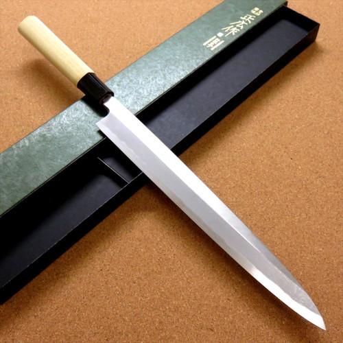 Japanese Masahiro Kitchen Yanagiba Knife 11 inch Yellow Steel Right handed JAPAN