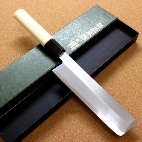 """Japanese Masahiro Kitchen Nakiri Usuba Knife 6"""" Yellow Steel Right handed JAPAN"""