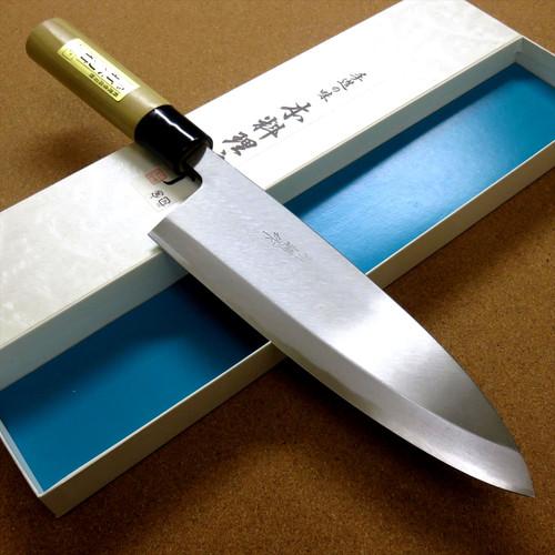 Japanese Kiyotsuna Kitchen Deba Knife 9 inch Single edged Right handed JAPAN
