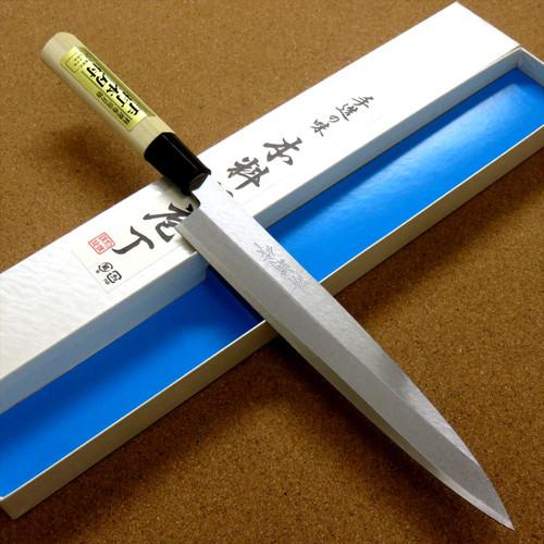 Japanese Kiyotsuna Kitchen Sashimi Yanagiba Knife 210mm 8 in Right handed JAPAN