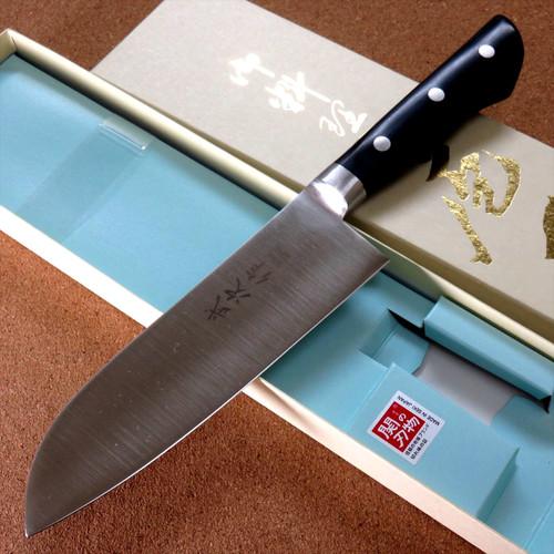 Japanese Kitchen Santoku Knife 165mm 6 inch Meat Fish cut Bolster SEKI JAPAN