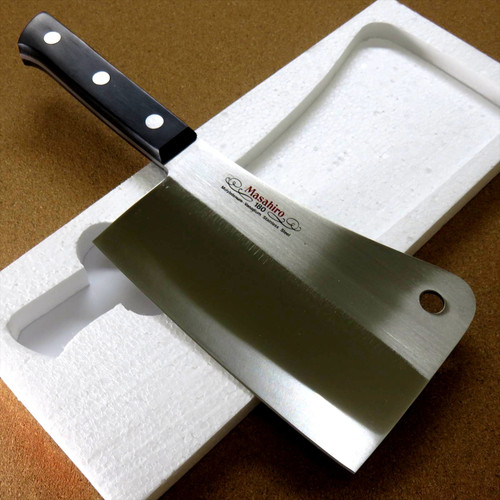 Japanese MASAHIRO Kitchen Cleaver Butcher Chopper Knife 185mm 7 inch SEKI JAPAN