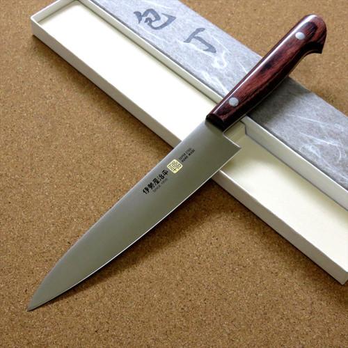 Japanese SETO-E Kitchen Petty Utility Knife 6 inch Mahogany Handle SEKI JAPAN