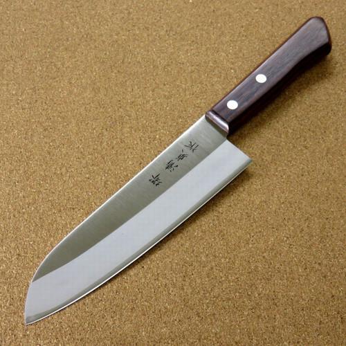 Japanese Sakai Kitchen Santoku Knife 170mm 6.7 inch Lightweight 80g SEKI JAPAN