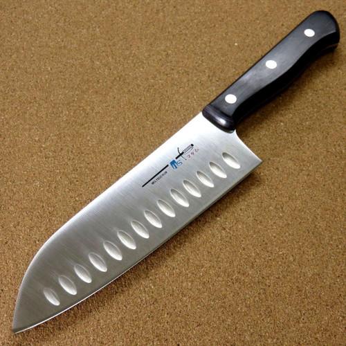Japanese Kitchen Dimple Santoku Knife 170mm 6.7 inch Meat Fish cut SEKI JAPAN