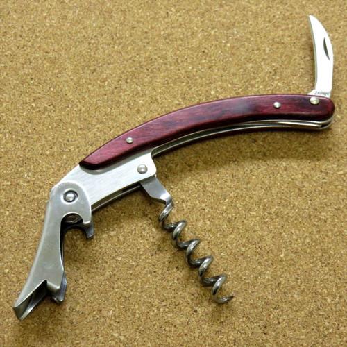 Japanese Sommelier Knife Corkscrew Wine Bottle Opener Red Plywood SEKI JAPAN