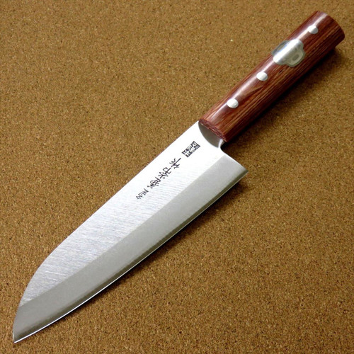 Japanese Kanetsune Kitchen Santoku Knife 165mm 6.5 inch Hon-Warikomi SEKI JAPAN