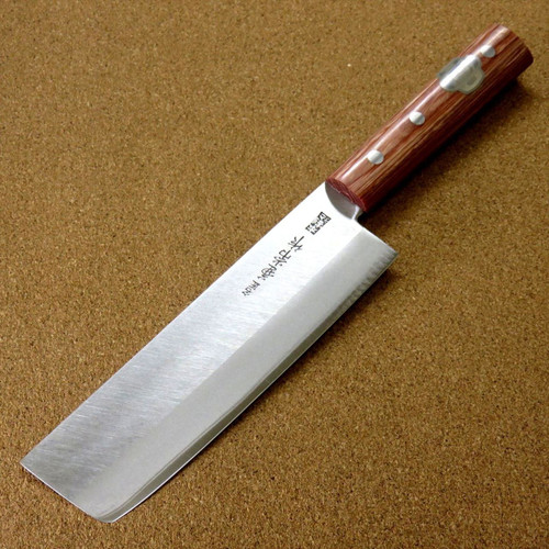 "Japanese Kanetsune Kitchen Nakiri Vegetable Knife 165mm 6.5"" Warikomi SEKI JAPAN"