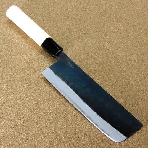 "Japanese Kitchen Nakiri Vegetable Knife 6.5"" Sirogami (No maker mark) SEKI JAPAN"