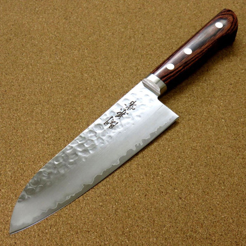 Japanese Kanetsune Kitchen Santoku Knife 165mm 6.5 inch Hammer Forged SEKI JAPAN