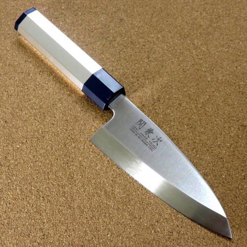 Japanese Kitchen Deba Knife 4.7 inch Aluminum Handle Single edged SEKI JAPAN