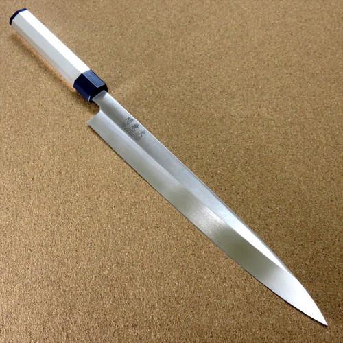 Japanese Kitchen Sashimi Knife 10.6 inch Aluminum Handle Single edged SEKI JAPAN