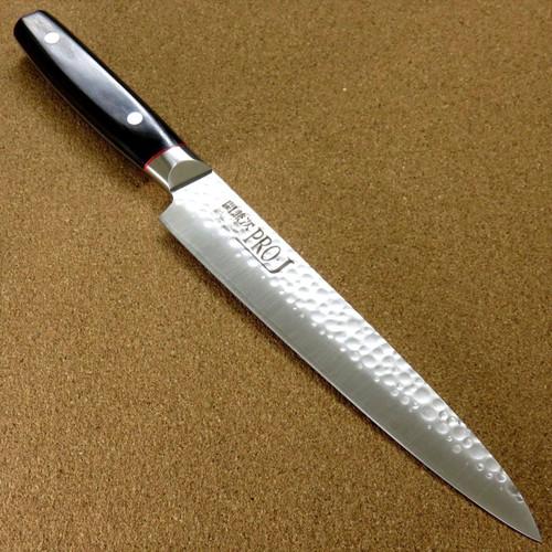 Japanese PRO-J Kitchen Sujihiki Slicing Knife 210mm 8.3 inch Hammered SEKI JAPAN