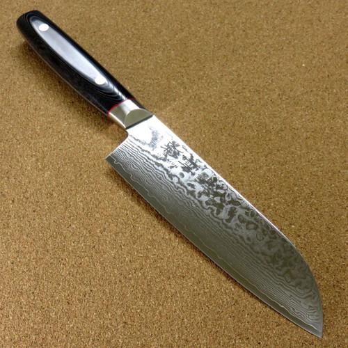 Japanese SAIUN Kitchen Santoku Knife 170mm 6.7 inch VG-10 Damascus SEKI JAPAN
