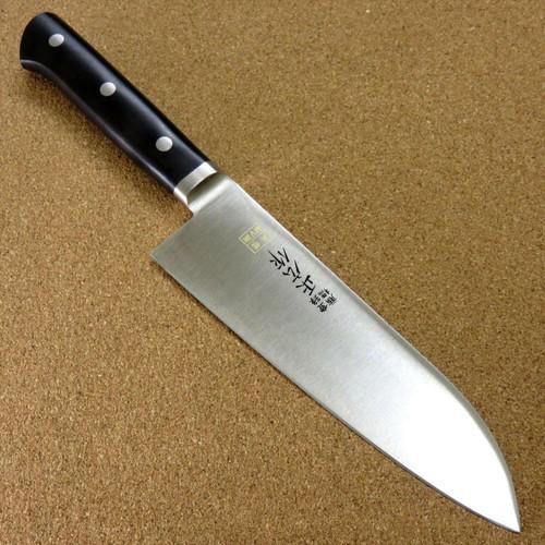 Japanese Masahiro Kitchen Santoku Knife 6.9 inch MV Honyaki Meat Fish SEKI JAPAN